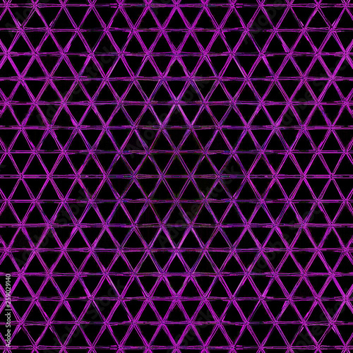 Keuken foto achterwand ZigZag Modern gradient cover. Trendy print. Contour violet silhouette on black background