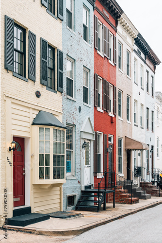 Photo Row houses in Bolton Hill, Baltimore, Maryland