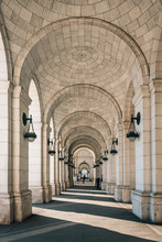 Exterior Arches Of Union Station, In Washington, DC