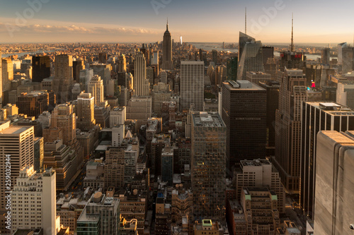 Fototapety, obrazy: New York Panorama am Abend