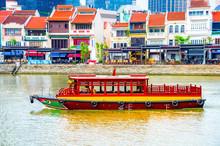 Tourist Boat, Boat Quay, Singapore