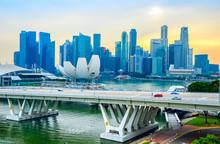 Singapore Skyline, Artsience Museum, Bridge