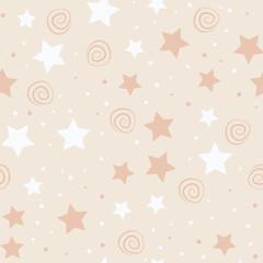 Stars kids seamless pattern design