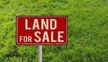 Land For Sale Metallic Vintage Sign