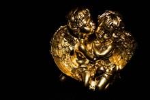 Gold Angel Cherubs With Black ...