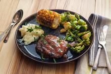 Salisbury Steak Grilled Vegetables