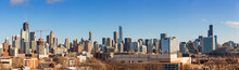 Panoramic View Of The Skyline Of Chicago.
