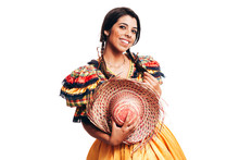 Brazilian Woman Wearing Typica...