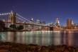The Brooklyn Bridge and Lower Manhattan Twilight - NYC