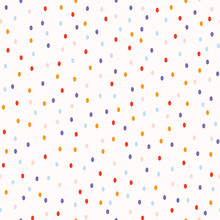 Ditsy Polka Dots Seamless Vector Pattern. Random Tiny Pastel Confetti Circles For Kids Birthday Invitations, Summer Fashion All Over Prints, Scrapbooking, Party Celebrations. Light Childish Background