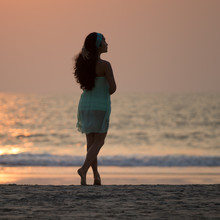 Silhouette Of A Beautiful Girl...