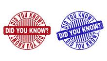 Grunge DID YOU KNOW? Round Sta...