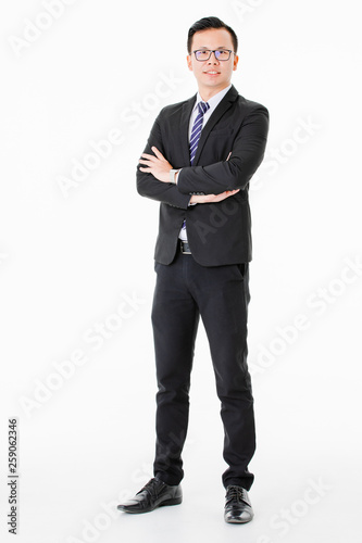 Young man on isolated white background Fototapet