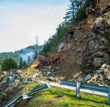 Road Closed Rock Slide Ahead