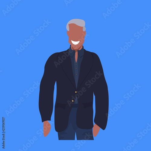 african american man in casual clothes standing pose happy