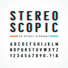 Stereoscopic Alphabet & Number...