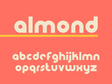 Rounded Lowercase Font. Latin Alphabet Letters. Vector Illustration