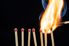 Line Of Burning Matches