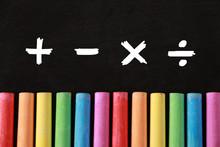 Math Concept With Mathematical Math Symbols