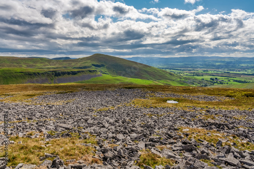 Foto  North Pennines landscape on the way between Dufton and High Cup Nick in Cumbria,