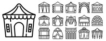 Canopy Icons Set. Outline Set ...