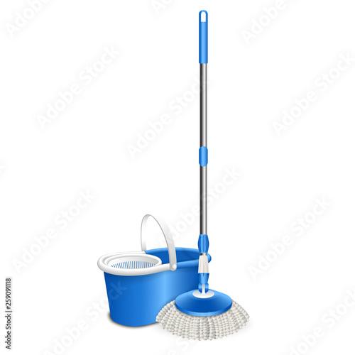 Obraz na płótnie Cleaning mop icon