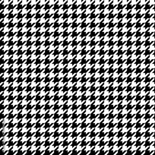 Black and white pattern Houndstooth seamless pattern black and white Canvas Print