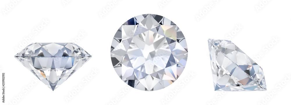 Fototapeta diamond in three dimensions