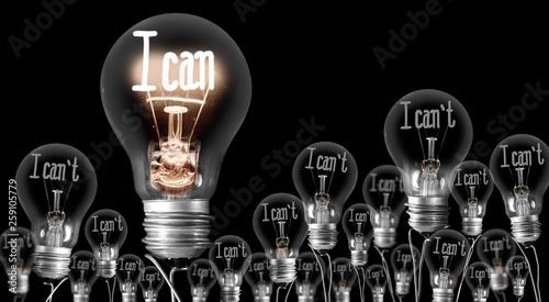 Fotografie, Obraz  Light Bulbs Concept