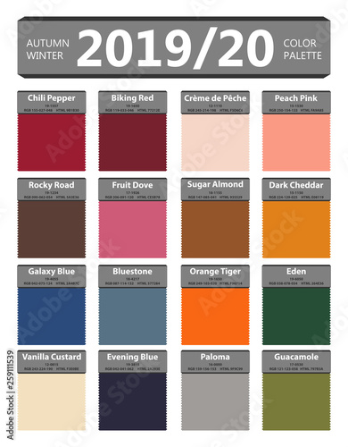 Fall Color Palette 2020.Autumn And Winter 2019 2020 Fashion Color Palette Worlds
