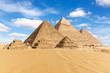 Egypt, the Great Pyramids of Giza view