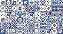 Blue Portuguese Tiles Pattern ...