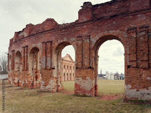 In de dag Palermo Brest, BELARUS - MARCH 18, 2019: Sapeg Palace in Ruzhany. ruins of an old castle