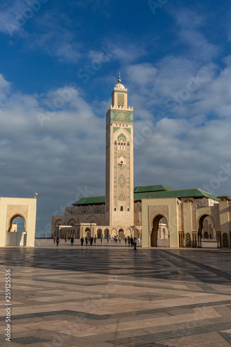 Exterior of mosque in Casablanca
