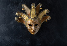 Venetian Mask On A Black Backg...