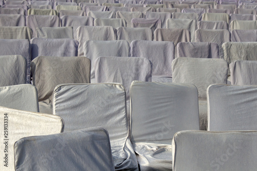Photo  Sitting with white covers in the meeting room
