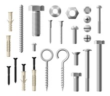 Construction Metal Fasteners Screws And Bolts