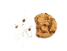 Half Eaten Cookie Isolated On ...