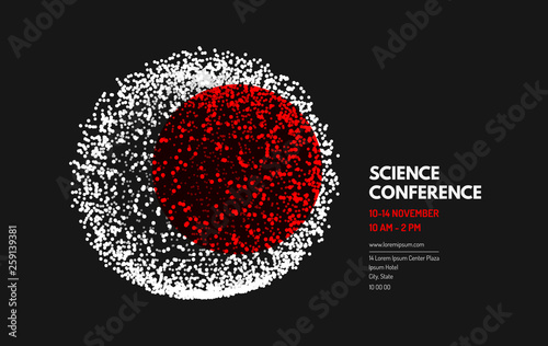Science Conference Sphere Business Event Invitation Template Can