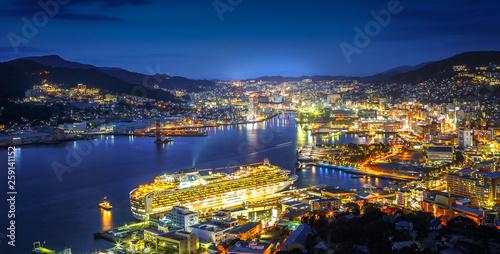 Obraz na płótnie 長崎港の夜景