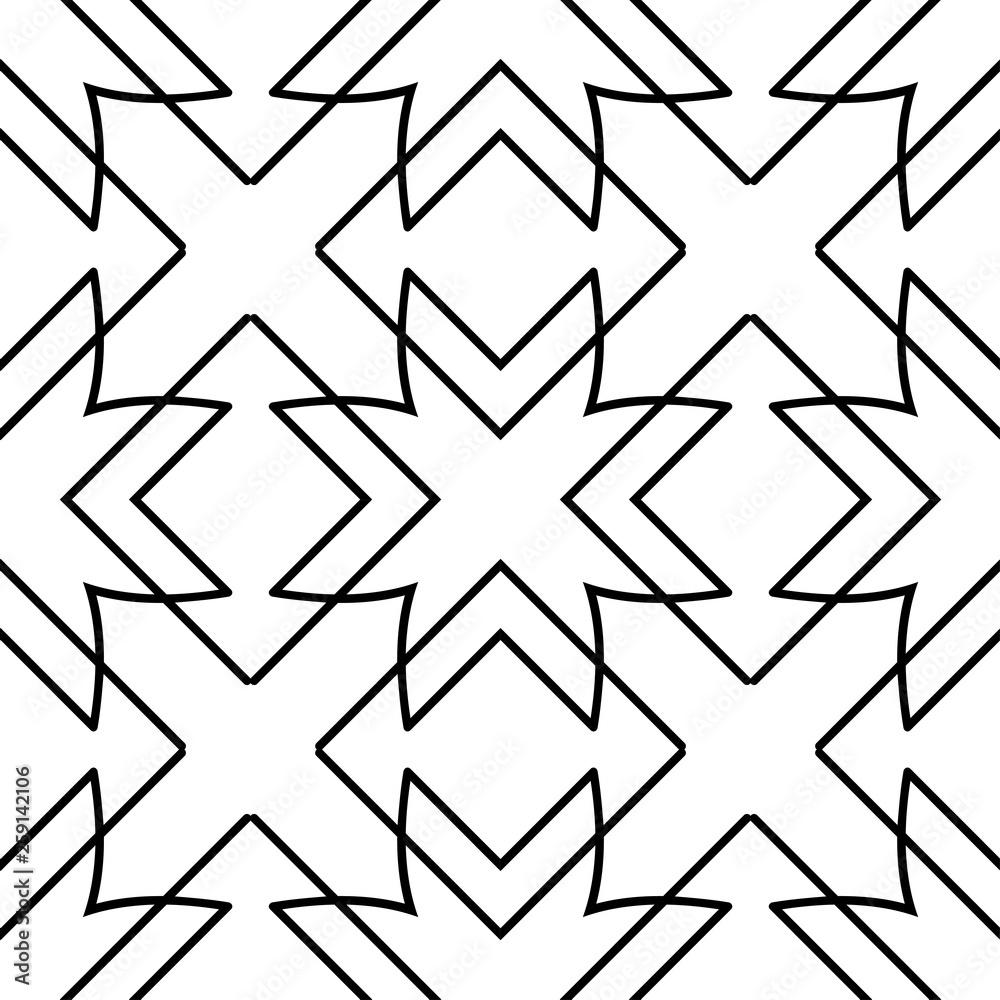 Seamless geometric art deco pattern. Vintage ornamental texture