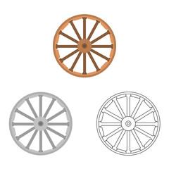 Wild West wheel vector icon