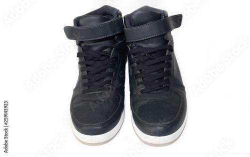 Fotografie, Obraz  Blue sport men sneakers isolated on white background