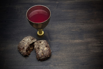Communion And Passion - Unleavened Bread Chalice Of Wine