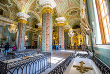 Interior, Peter And Paul Cathedral, 18th-century Romanov Dynasty Burial Site - Saint Petersburg, Russia