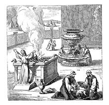 Vintage Drawing Of Biblical Is...