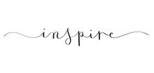 INSPIRE Brush Calligraphy Banner