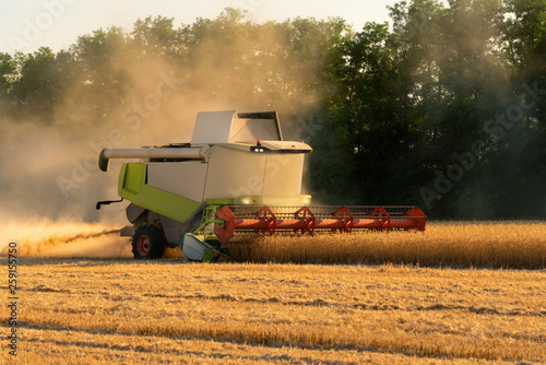 Aufkleber - Autonomous harvester on the field. Smart farming concept