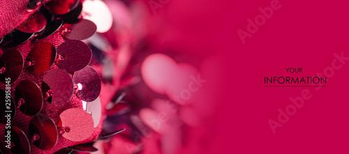 Fototapeta Pink sequins fashion fabric shine pattern on blur background obraz