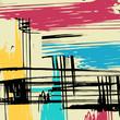Beautiful abstract gentle graffiti pattern illustration